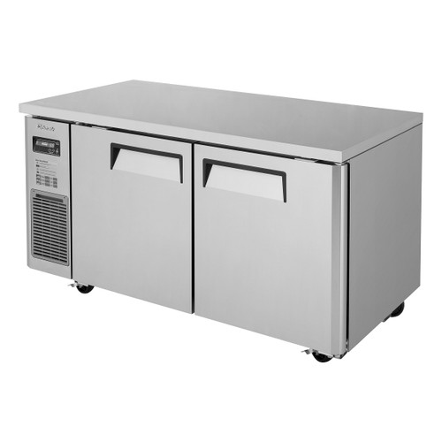 Turbo Air JUF-60-N J Series Undercounter Freezer, Side Mount, 2 Solid Doors