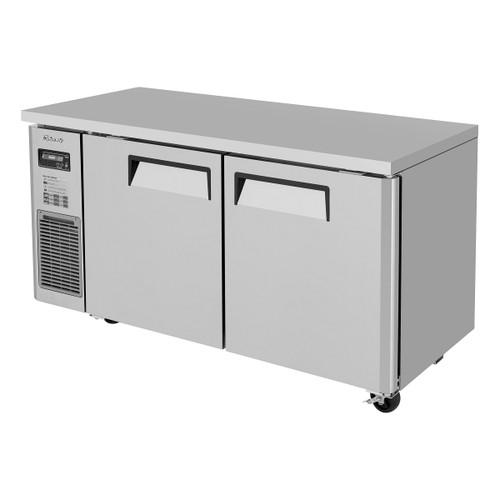 Turbo Air JUF-60S-N J Series Undercounter Freezer, Side Mount, Narrow Depth, 2 Solid Doors