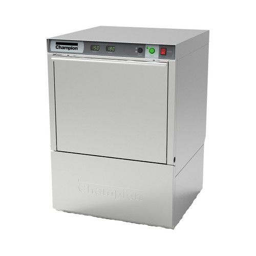 Champion UH130B Undercounter High Temperature Dishwashing Machine with Built-in Booster Heater