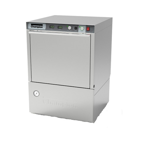 Champion UH230B Undercounter High Temperature Dishwashing Machine with Built-in Booster Heater