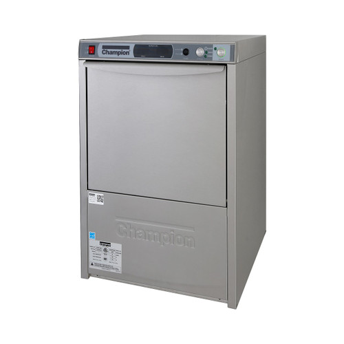 Champion UH330B Undercounter High Temperature Dishwashing Machine with Heat recovery and built in Booster Heater