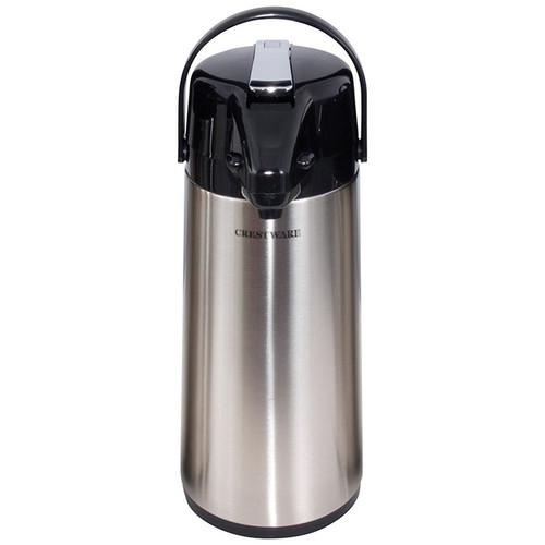 Crestware APL22S Airpot, 2.2 liter, Lever Pump, Stainless Steel Liner