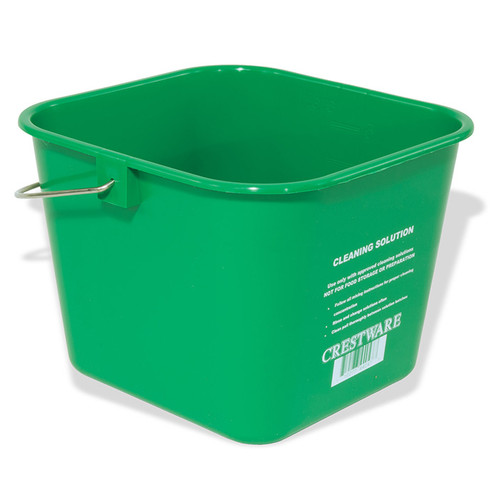 CRESTWARE BUCMG Cleaning Bucket, 6 quart, Green, Medium