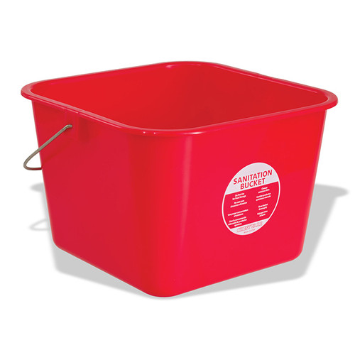 Crestware BUCLR Sanitation Bucket, 8 quart, Red, Large