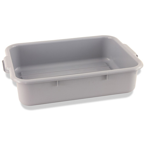 """Crestware BT5GY Gray Plastic Bus Tub, 20-1/2""""x15-1/2""""x5"""", One Compartment"""