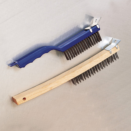 "American Metalcraft 1147 Wire Brush, 11-1/2"", Steel Bristles,Plastic Handl"