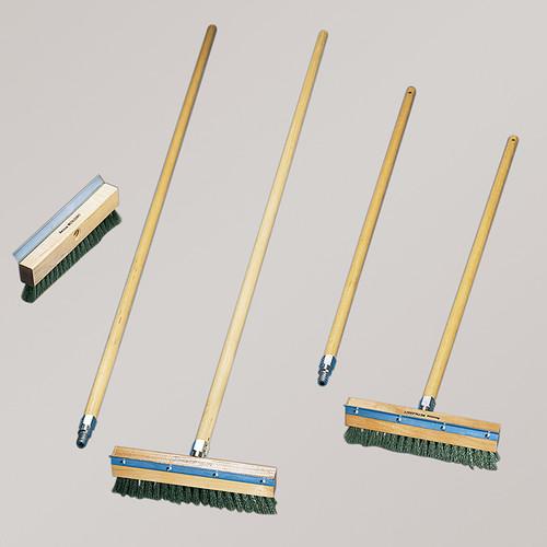 "American Metalcraft 1597 Oven Wire Brush, 40"", Brass Bristles, W/Scraper"