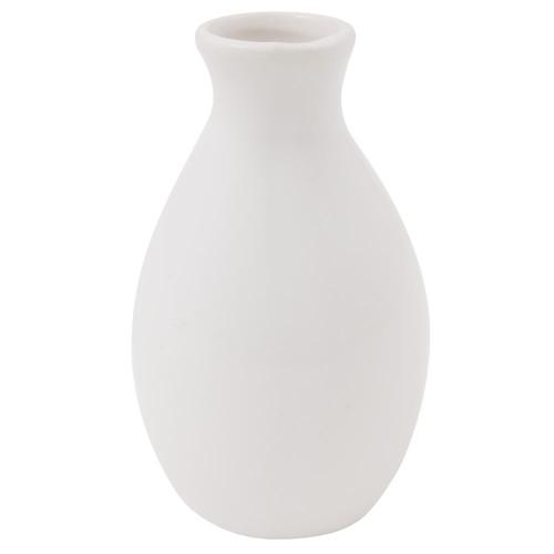 "American Metalcraft BVJGG4 Bud Vase, 2""W x 3-7/8""H, Ceramic, White"