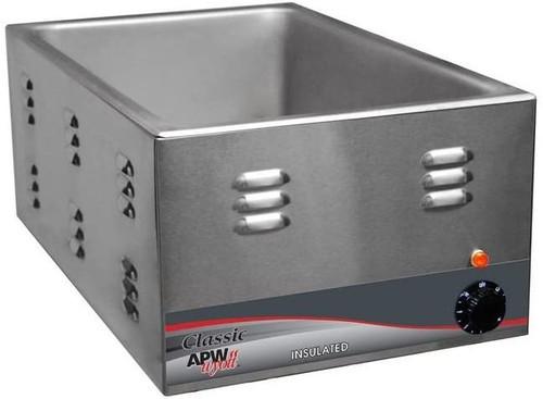 """APW W-3VI Food Warmer, Electric, Countertop, One 12"""" x 20"""" Pan"""