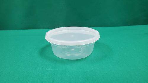 PLASTIK FT-S08 Soup Combo Plastic Container & Lid 8oz (240/cs)