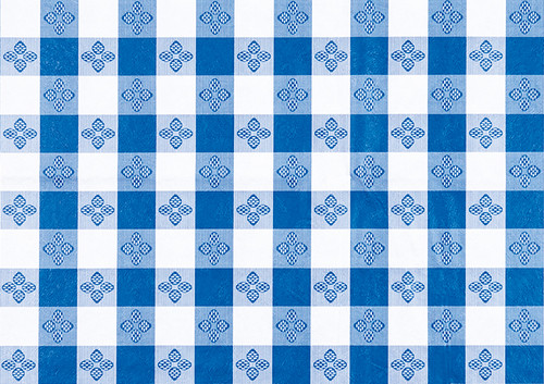 "Winco TBCS-52B Table Cloth 52"" x 52"" Square PVC Material, Blue"