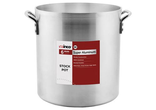 """Winco ALHP-100 Precision Stock Pot, 100 quart, 20"""" x 17-3/4"""", w/o Cover, Aluminum"""
