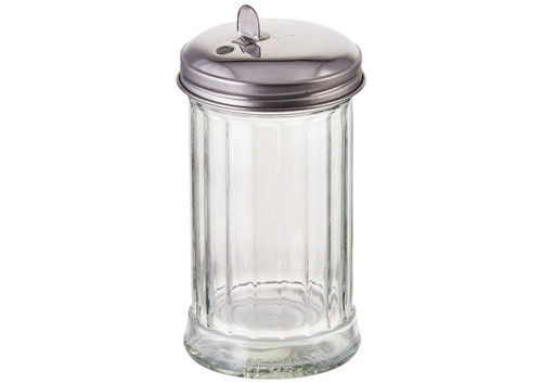 Winco G-302 Sugar Pourer, 12 oz, Glass, w/Flap Top (12pcs/pack)