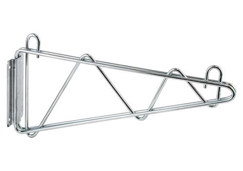 """Winco VCB-24 Wire Shelf Wall Bracket, 24"""", Chrome"""