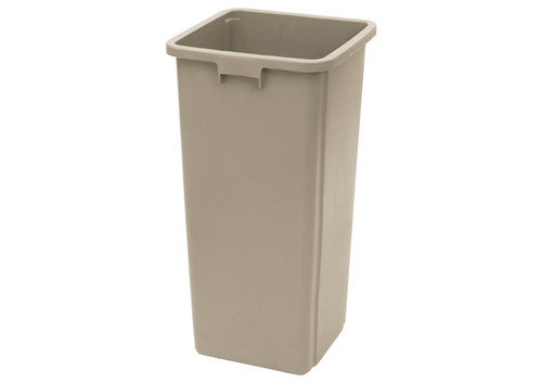 Winco PTCS-23BE Trash Can, 23 gallon, Square, Tall, Beige