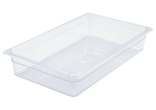 """Winco SP7104 Food Pan, Full Size, 3-1/2"""" Deep, Clear, NSF"""