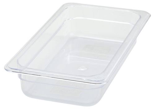 "Winco SP7302 Food Pan, 1/3 size, 2-1/2"" Deep, Clear, NSF"