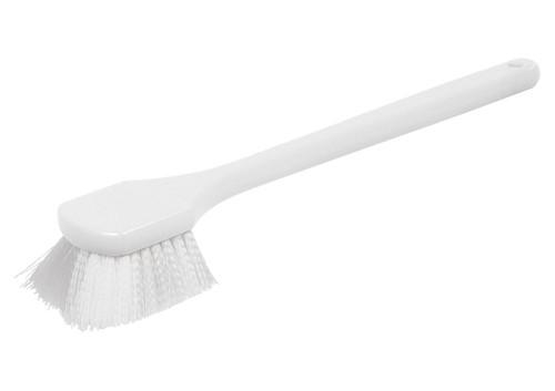 "Winco BRN-20P Pot Brush, 20"", Plastic Handle, Nylon Bristles"