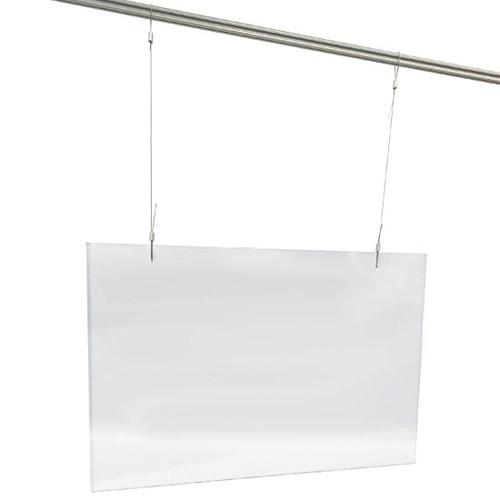 "NEMCO 69798 Easy Shield, Hanging, 36"" x 1/4"" x 24"", Chain & Hardw"