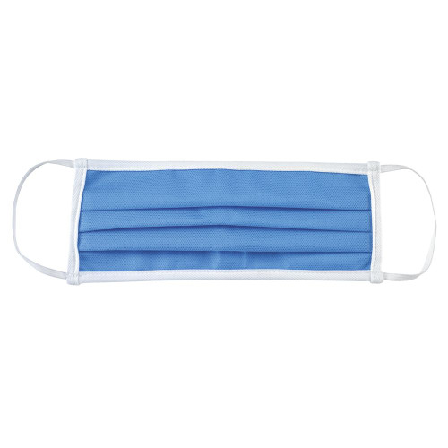 Mercer Culinary M69011LB Protective Face Mask, Pleated, Hand Washable, Blue