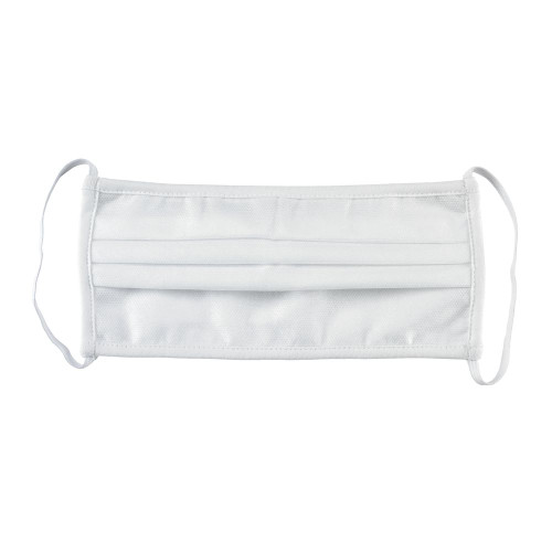 Mercer Culinary M69011WH Protective Face Mask, Pleated, Hand Washable, White