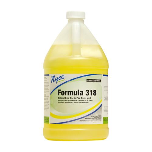 NYCO NL318-G2 Formula 318 Yellow Dish, Pot & Pan Detergent, 1 Gallon