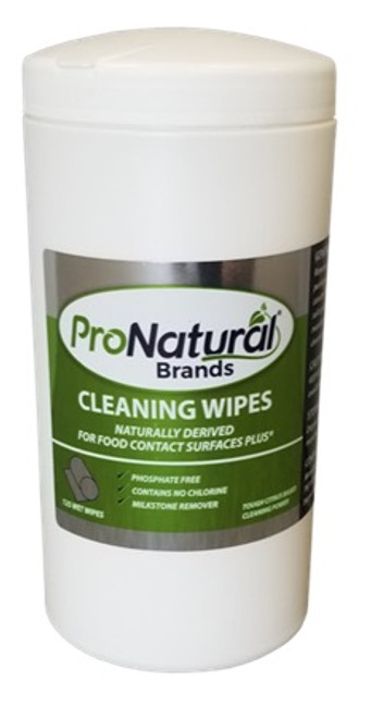 Stoelting 265002 ProNatural Brands Cleaning Wipes, 125 count
