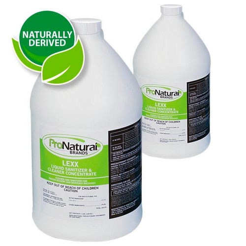 LEXX 265003 Liquid Sanitizer & Cleaner Concentrate, 1 Gallon