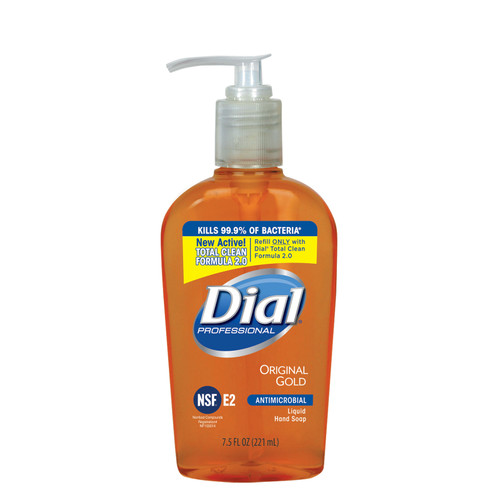 Dial 2340084014 Antibacterial Liquid Hand Soap Pump, 7.5 oz - Gold
