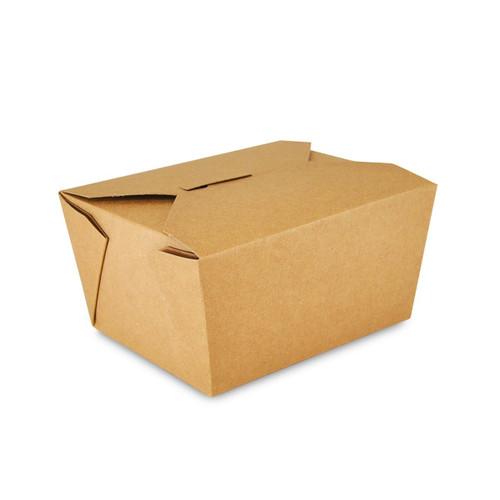 AmerCareRoyal FTB1N Kraft Folded Takeout Box, 4.38x3.5x2.5, #1, 450/Case