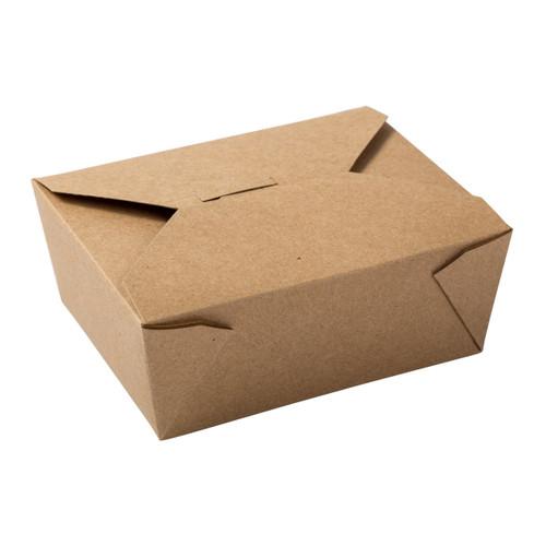 AmerCareRoyal FTB8N Kraft Folded Takeout Box, 6x4.75x2.5, #8, 300/Case