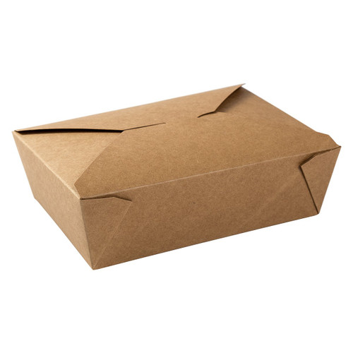 AmerCareRoyal FTB3N Kraft Folded Takeout Box,7.75x5.5x2.5, #3, 160/Case
