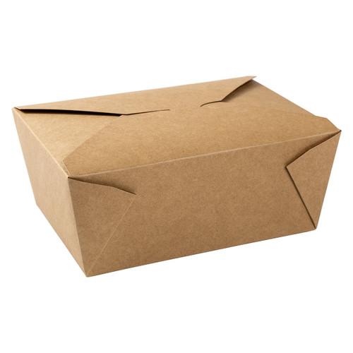 AmerCareRoyal FTB4N Kraft Folded Takeout Box, 7.75x5.5x3.5, #4, 160/Case