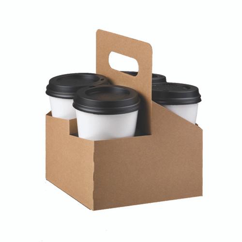 LPB 29500 4-Cup Kraft Drink Carrier - 200/Case