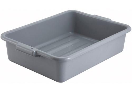 """Winco PL-5G Dish Box, 20-1/4"""" x 15-1/2"""" x 5"""", Gray, 1-Compartment"""