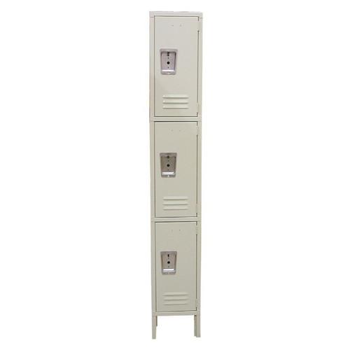 """Omcan 13128 Assemble Locker, 3 tier, 12""""W x 18""""D x 78""""H overall"""