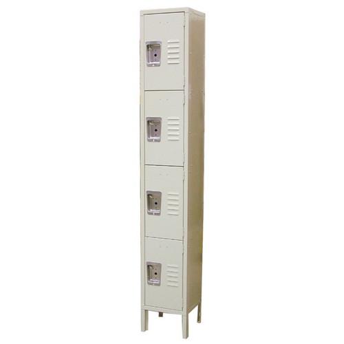 """Omcan 13130 Assembled Locker, 4 tier, 12""""W x 18""""D x 78""""H overall"""