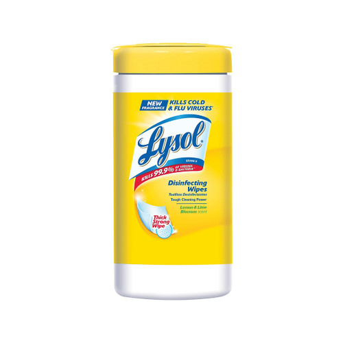 Lysol Disinfecting Wipes, Lemon and Lime Blossom, 80 Count/Canister