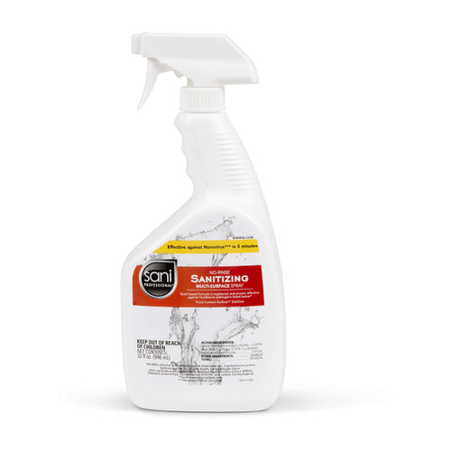 Sani Professional G11284 Multi Surface Sanitizing Spray, 32 Oz