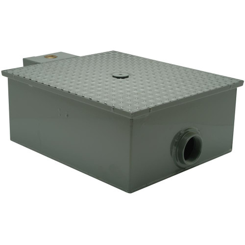 Zurn GT2701-20 Low Profile Grease Trap, 40 lb Capacity