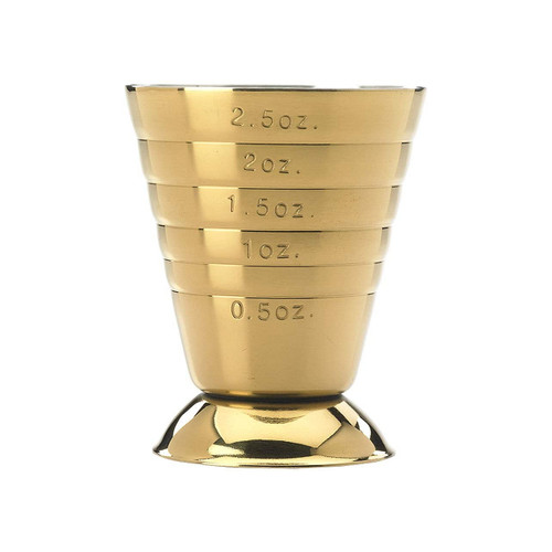 Barfly M37069GD Bar Measuring Cup, 2.5 oz./5 tbsp./7.5 ml., Gold Plated Finish
