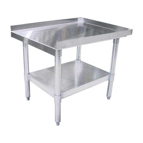 """Omcan 22060 18 Gauge Stainless Steel Equipment Stand, 48"""" x 30"""""""