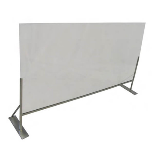 """Channel SDDF-4832 Social Distancing Dividers, Counter Stand, 48""""W x 32""""H"""