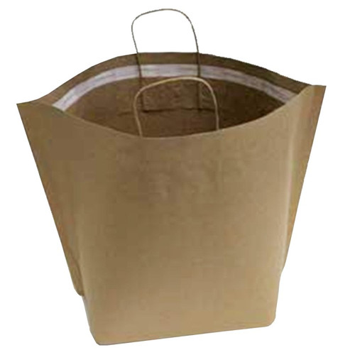 """American Paper Bag 21149 21.65"""" x 14.5"""" Tamper Evident Paper Shopping Bag with Handle, 250/Case"""