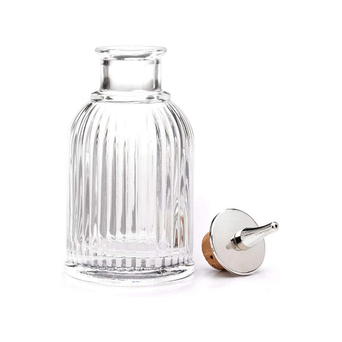 Mercer Barfly M37128 3 Oz. Bitters Bottle, Fluted, Stainless Steel Top