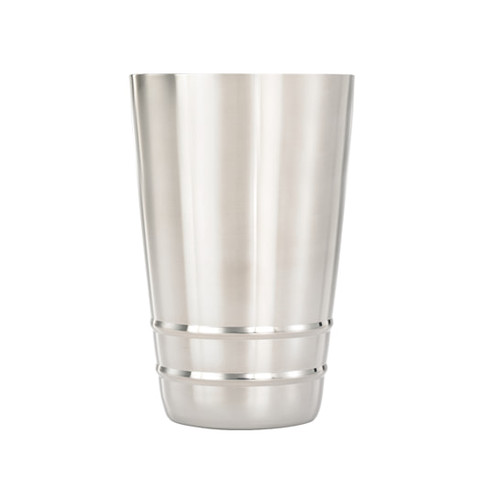 Mercer Barfly M37123 Stainless Steel 18 Oz Half Size Weighted Shaker, Satin Finish