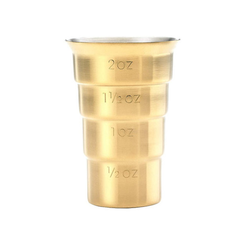 Mercer Barfly M37109GD Stainless Steel 2 Oz. Stepped Jigger, Gold Plated