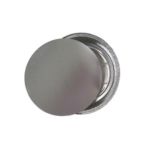"Western Plastics 509-L200P Aluminum 9"" Round Pan with Lid Combo (200/Case)"