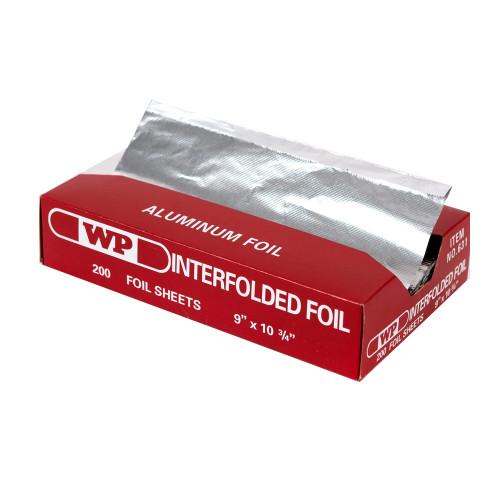 "Western Plastics 631 Aluminum Foil Pop Up Sheets, 9"" x 10.75"" (12 Box/Case)"