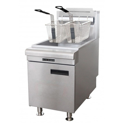 Adcraft BDCTF-75/NG 50 - 55 lb. Natural Gas Countertop Fryer - 75K BTU